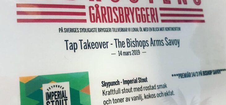 Tap takeover på Bishops!