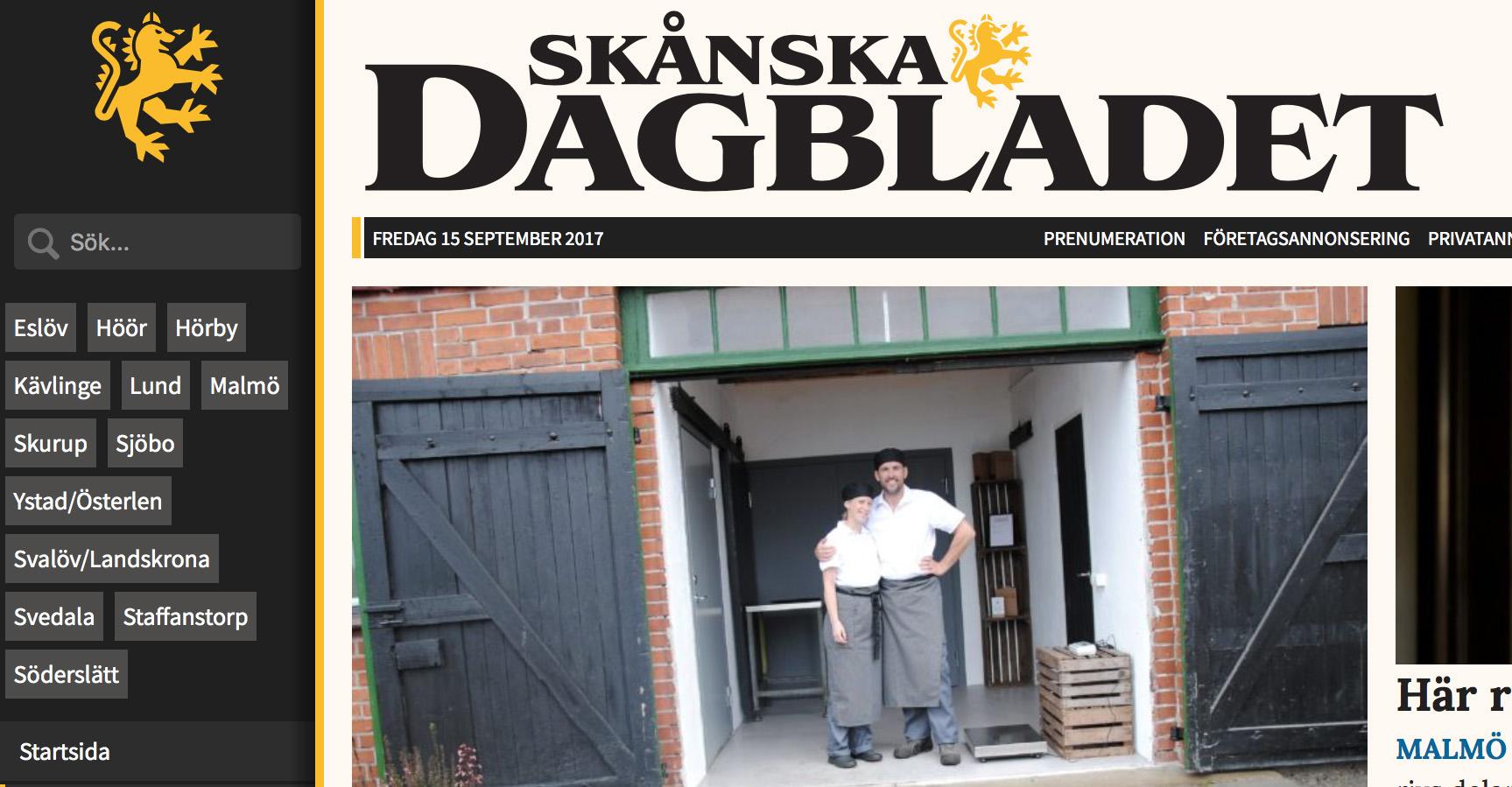 Skånska Dagbladet på besök!